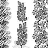 Fronteras florales, inconsútiles por vertical Fotografía de archivo libre de regalías