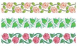 Fronteras florales lindas Imagen de archivo libre de regalías