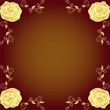 Fronteras hermosas de las rosas Fotografía de archivo