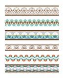 Fronteras inconsútiles coloreadas hermosas del vector Fotos de archivo libres de regalías