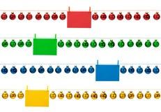 Fronteras inconsútiles horizontales de la Navidad Imágenes de archivo libres de regalías