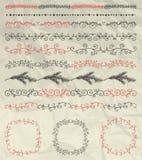 Fronteras inconsútiles, marcos, divisores en arrugado Imagen de archivo