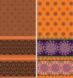 Fronteras indias de la sari stock de ilustración