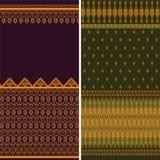 Fronteras indias de la sari ilustración del vector