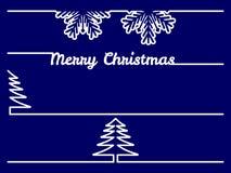 Fronteras o divisores de la Navidad Foto de archivo