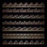 Fronteras onduladas del oro ilustración del vector