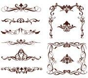 Fronteras ornamentales del vector stock de ilustración