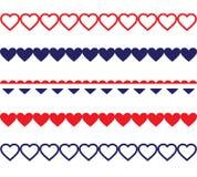 Fronteras patrióticas del corazón Imagenes de archivo