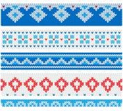 Fronteras planas del vector del estilo de la fiesta de Navidad fea del suéter ilustración del vector