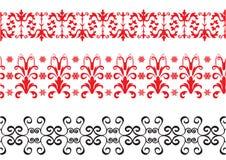 Fronteras rojas y negras stock de ilustración