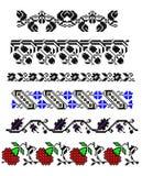 Fronteras tradicionales rumanas de la alfombra Fotografía de archivo
