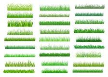 Fronteras verdes frescas de la hierba de la primavera Foto de archivo