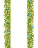 Fronteras verticales de la hierba, marco ilustración del vector