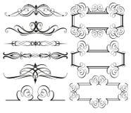 Fronteras y divisores del marco del vintage ilustración del vector