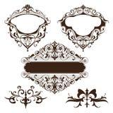 Fronteras y esquinas ornamentales del diseño ilustración del vector