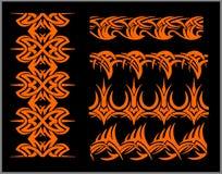 Fronteras y pulseras - sistema de Seamles del vector Fotografía de archivo