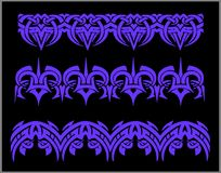 Fronteras y pulseras - sistema de Seamles del vector Foto de archivo