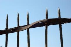 Frontière de sécurité en métal Images libres de droits