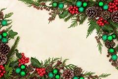 Frontière abstraite de Noël Photographie stock