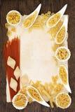 Frontière abstraite de pâtes Photos stock