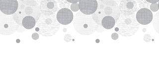 Frontière argentée de modèle de Grey Circles Dots Horizontal Seamless de vecteur avec la texture de tissu Perfectionnez pour la c Photos stock
