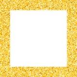 Frontière avec des étoiles de miroitement Étincelle d'or Cadre d'or des étoiles photographie stock libre de droits