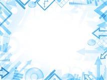 Frontière bleue de cadre de fond de statistiques abstraites illustration libre de droits