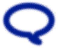 Frontière bleue tramée de bulle de la parole rétro illustration stock