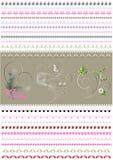 Frontière calligraphique modelée rassemblée à aux vacances de femmes Photo stock