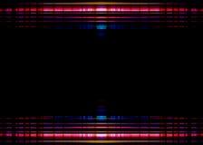 Frontière colorée de lumières sur le noir Photographie stock
