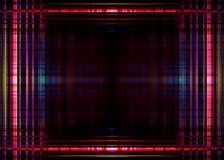 Frontière colorée de lumières sur le noir Images stock