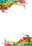 Frontière colorée de page Photos stock