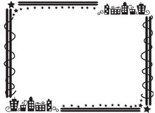 Frontière décorative de cadre des bâtiments Photographie stock libre de droits