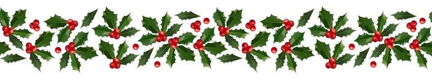 Frontière décorative de Holly Christmas