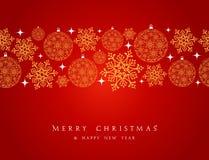 Frontière d'éléments de décorations de Joyeux Noël. illustration de vecteur