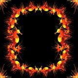 Frontière d'hippocampes du feu Image libre de droits