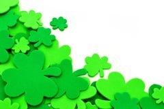 Frontière d'oxalide petite oseille de jour de St Patricks photo libre de droits