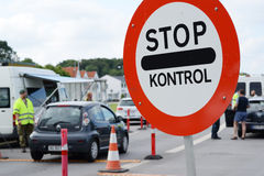 Frontière danoise image libre de droits