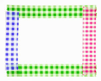 Frontière de bande paerforée colorée sur le fond blanc Images stock