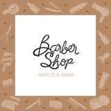 Frontière de Barber Shop Accessories Illustration de Vecteur