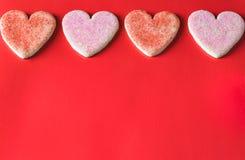 Frontière de biscuits de vacances de jour du ` s de Valentine Photo libre de droits