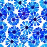 Frontière de bleuet d'aquarelle Photographie stock libre de droits