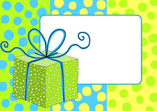 Frontière de cadre de boîte-cadeau illustration stock
