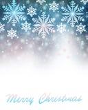 Frontière de carte de voeux de Joyeux Noël Image stock