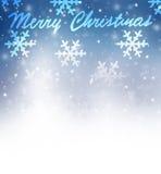 Frontière de carte de voeux de Noël Images libres de droits