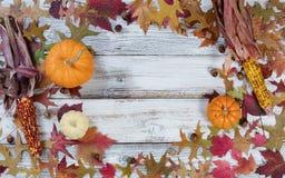Frontière de cercle d'Autumn Seasonal Decorations Photo stock