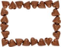 Frontière de coeur de chocolat de jour de valentines Images libres de droits
