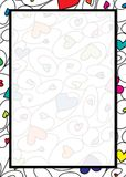 Frontière de coeur de Swirly dans le format de vecteur illustration de vecteur