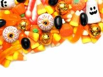 Frontière de coin de sucrerie de Halloween photos stock