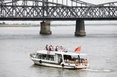 Frontière de Coréen de Sino-Nord Image libre de droits